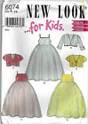 New Look 6074 Pattern  ~  Girls Sleeveless Gown & Jacket ~ Uncut 3-4-5-6-7-8