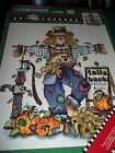 DAISY KINGDOM Iron-On Transfer FALL & BACK Scarecrow Vintage 1998 NEW