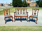 Early 20th Century Ball and Claw Chippendale Parlor Set ~ Sofa and 2 Chairs