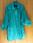 Gallery teal blue/green coat  above knee size-M cotton blend