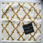 QUATREFOIL Bathroom TOWELS~ GOLD TAN CREAM ~ QUATREFOIL BATH TOWELS 6pc NEW