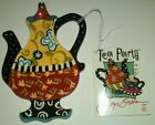 NEW IN BOX & FREE SHIP*JOYCE SHELTON Ceramic Tea Party Collection TEA BAG HOLDER
