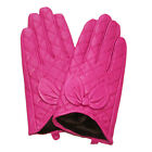 New woman fashion genuine lamb leather soft Grid and bow below-wrist gloves