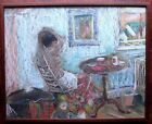 Modern Realist Interior Window Nude Well Done Pastel Painting Signed Millar
