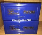 NEW 2 x PSA Sports Blue Plastic Display Storage Case Box Graded Card Protection