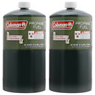 LOT of  2 - Propane Gas Fuel COLEMAN - Outdoor Grill BBQ CAMPING FUEL CYLINDER