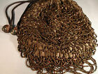 Vintage Brown Beaded Handbag / Purse - Loop Design - Beautiful