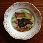 VINTAGE Z.S. & CO. BAVARIA MIGNON PORCELAIN TURKEY PLATE