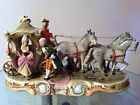 Antique Porcelain 4 Horses Royal Carriage Figurine. Made in Germany