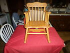 Vintage Storkline  Childs Wooden Rocking Chair, Kids Musical Wood Rocker