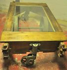 Antique Railroad Cart Table Vintage Nutting Lineberry Industrial Steampunk