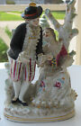 Antique Dresden Style Porcelain Romantic Man and Lady Figurine Rococo Lovers