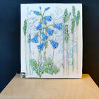 SWEDEN jie GANTOFTA ceramic Wall Plaque  'Blue Flowers' 852 Hand Painted