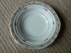Antique Mercer semi-vitreous china bowl, pink and white flowers, gold edging