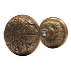 Playful Antique Aesthetic Movement Door Knob Set by Branford, 1880 NDK104