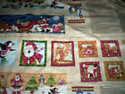 2 panels HUGS AND HOLLY  Kelly Mueller Red Rooster Fabrics Santa penquins ginger