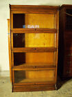 Antique Oak Gunn Barrister Bookcase Stacking 4 stack sectional book case