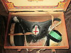ANTIQUE Masonic Knights Templar HAT SASH AND CAP IN ORIGINAL BOX