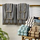 Superior Collection Luxurious Striped 100% Cotton 6-Piece Towel Set