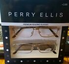 NIP Perry Ellis Premium Reading Glasses 2 Pk Silver Metal Rectangular 2.0 Power