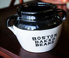 Vintage Black Boston Baked Beans USA Handled Crock Monmouth McCoy handle Ceramic