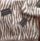 Cynthia Rowley Bath Towels Set (3 piece) Animal Stripe Print (Gray/White) New