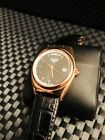 New Mens Elysee 28417 Classic Day Date Black Leather Strap
