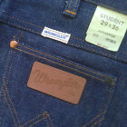 New Vintage WRANGLER Student Unisex 100 Cotton Blue Denim Jeans 27 x 35 Dark