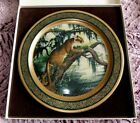 1978 LARGE 13 INCH PANTHER JAMES LOCKHART COLLECTOR PLATE PICKARD CHINA