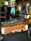 MAVERICK PINBALL GAME by Data East - WESTERN COMEDY FILM - MEL GIBSON!