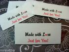 SPECIAL 40 Made With Love Just For You Sewing Labels