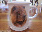Xpres Best Friend Originals 3D Embossed Beautiful  RED CHOW Dog Coffee Mug Cup