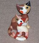 Wachtmeister MINI Cat Duo Figurine / ANGELO & ANGELINA- Signed / New W/O Box