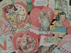 Lot of 12 VICTORIAN  VINTAGE VALENTINES DIE CUTS 4 CRAFTS FREE SHIP V3