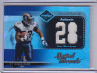 2003 Leaf Limited Threads Jersey Numbers #LT70 Marshall Faulk 23 28 FACTORY ERR
