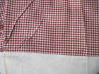 POTTERY BARN Red White Gingham Bed Skirt QUEEN