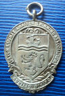 Sterling Silver Swimming / Diving Fob Medal 1947 & 1949  -  Devon County A.S.A.
