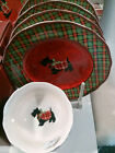 SET of  FOUR (4) Brand New 222 FIFTH CHRISTMAS SCOTTY Fine China SALAD PLATES