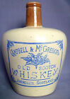 CAMPBELL & McGREGOR ABERDEEN SCOTLAND, OLD SCOTCH WHISKY 1/4 GALN. STONEWARE JUG
