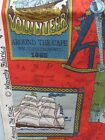 Vintage Waverly Fabric Around the Cape Nautical Beachy Ships Maps Knots