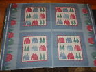 Cranston Print Works HOME SWEET HOME Calico Quilt Pillow Panel 42