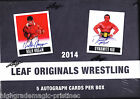 2014 Leaf Originals Wrestling Hobby Box Lot - Factory Sealed 6 Box - Half Case