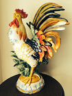 Collectible Fitz & Floyd Ricamo Large Rooster  Figurines Statue Chicken NEW