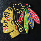 CHICAGO BLACKHAWKS  HOCKEY  IRON ON EMBROIDERED PATCH  3.5 X 3.5  INCH