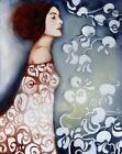 Pure Hand-painted Oil Painting Dress Flower Withe The Women Lady Girl No Frame