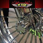 Chrome Billet Front Axle Nut Covers for 2000-2007 Harly Davidson Touring