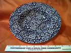 QUEEN'S Malaysia Cobalt Blue Calico Chintz SOUP BOWL 9 INCH   (GG)