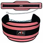 Neoprene Weight Lifting Dip Belt Exercise Belt Fitness Body Building Belt PINK