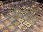 ESTATE SALE US GRADED COINS PCGS NGC 2 SLAB LOT SILVER GOLD 6 10 YEARS+ OLD