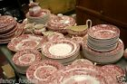 Antique 255 Pieces Wedgwood Cranberry Ferrara Pattern c.1891 Ships Huge Set